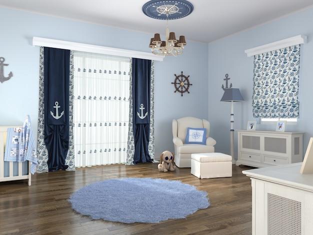 Интерьер спальни с отделкой