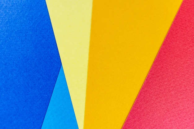 テクスチャ紙の黄色、赤、青。
