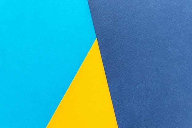 テクスチャ紙の黄色と青。