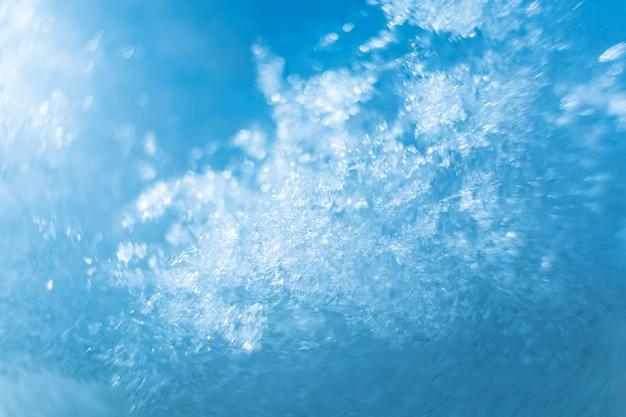 雪のクローズアップ