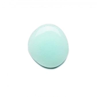 Капля голубого геля для мытья лица с пузырьками.