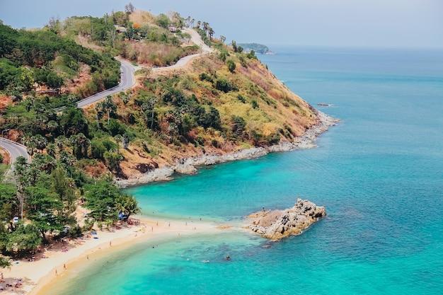 プーケット、タイで海のパノラマビュー