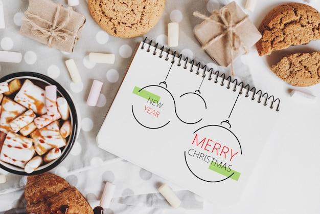 クリスマス、冬、新年のコンセプト