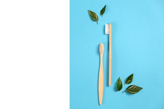 歯科治療と廃棄物ゼロのコンセプト。平置き