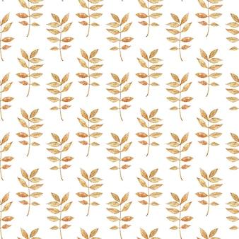 葉と水彩秋枝のパターン