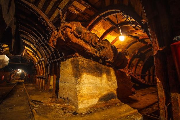 炭鉱の古い機器