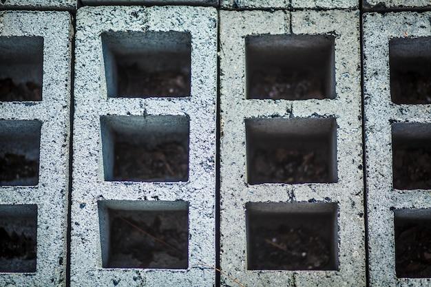 コンクリートブロック壁のテクスチャ