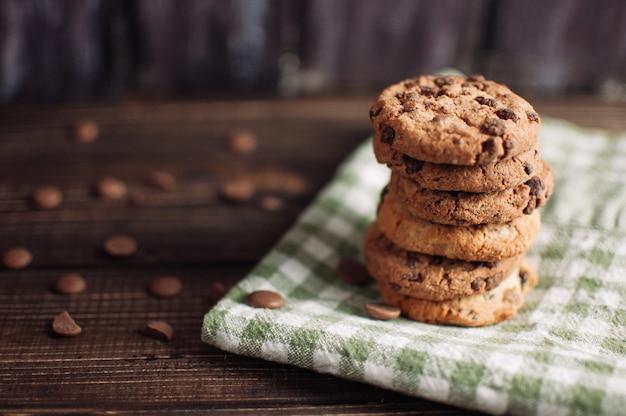 グルテンフリーのオートミールチョコレートクッキー