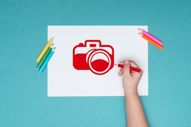 描画と創造性をテーマにした写真