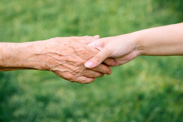 年金、老人、高齢者の世話