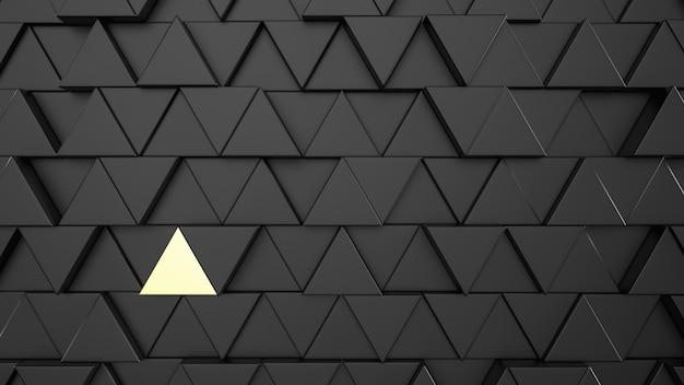 抽象的なテンプレートの背景を持つ金の三角形