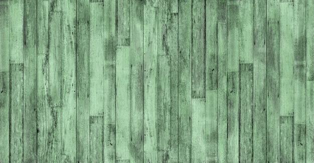 古いビンテージウッドテクスチャ緑の色の背景