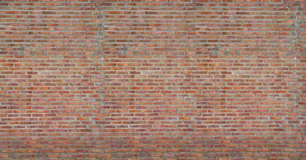 赤レンガの壁のテクスチャグランジ背景