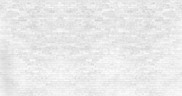 Белая кирпичная стена текстура и фон с копией пространства