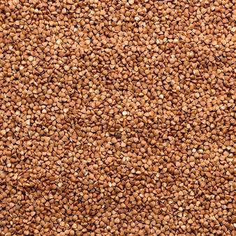 ソバのテクスチャです。生そば粒のテクスチャ。健康食品。上面図。