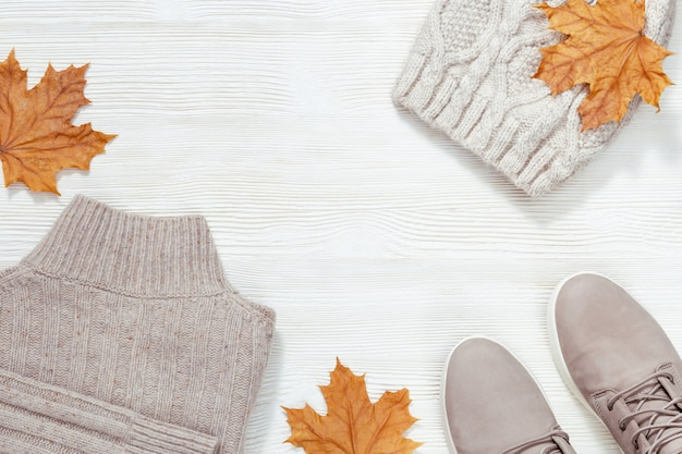 秋の快適な服
