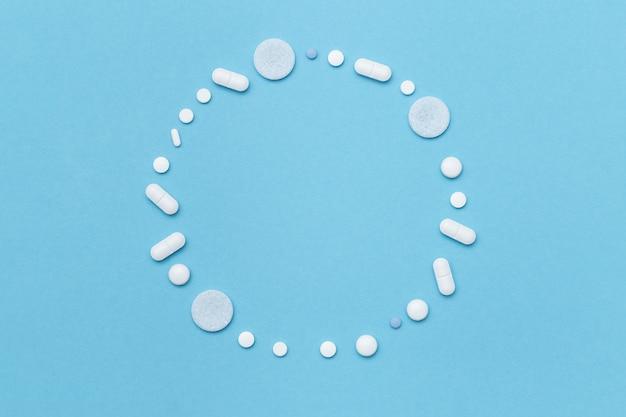 各種医薬品錠剤からのラウンドフレーム