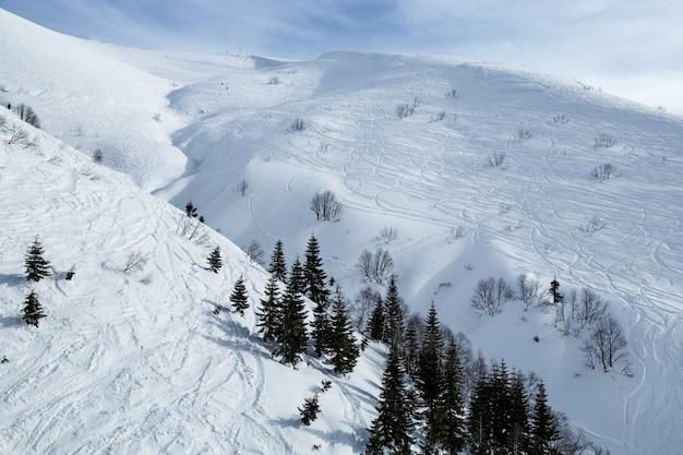 Фрирайд в горах кавказа покрыты снегом