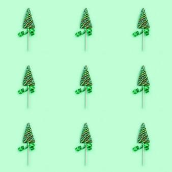 新年やクリスマスの色キャンディ創造的なシームレスパターン。