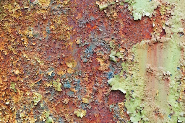 素朴な鉄の表面