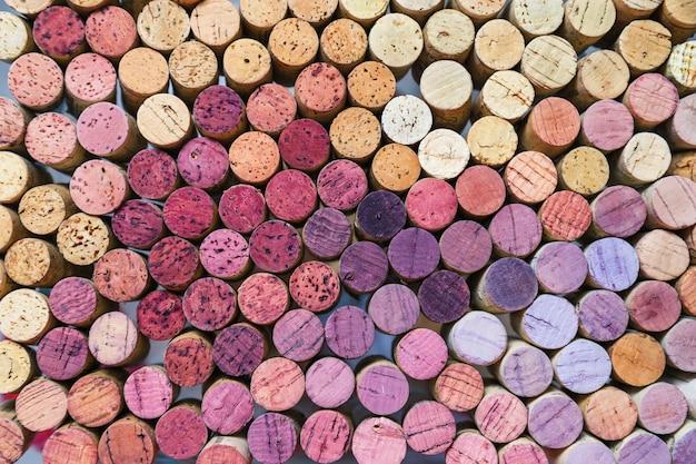 ワインのコルク栓の背景。