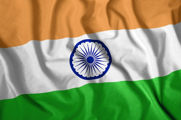 Красочный национальный флаг индии