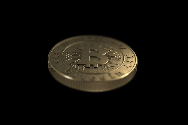 Золотая монета биткойн