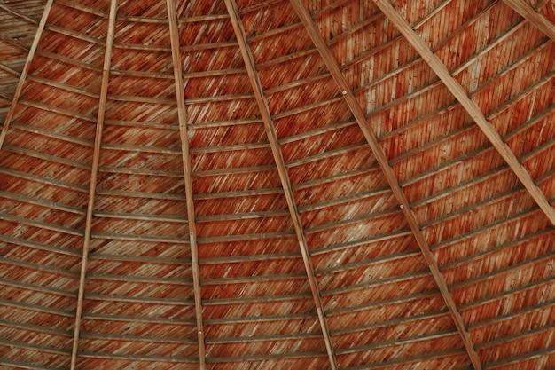最も高いドームの下の木製の背景テクスチャアーキテクチャ
