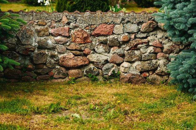 Каменная стена в парке дискавери - сиэтл
