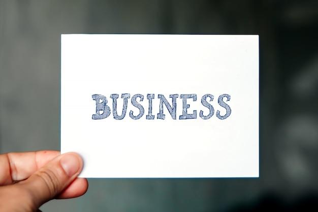 Концепция бизнеса, деловое слово