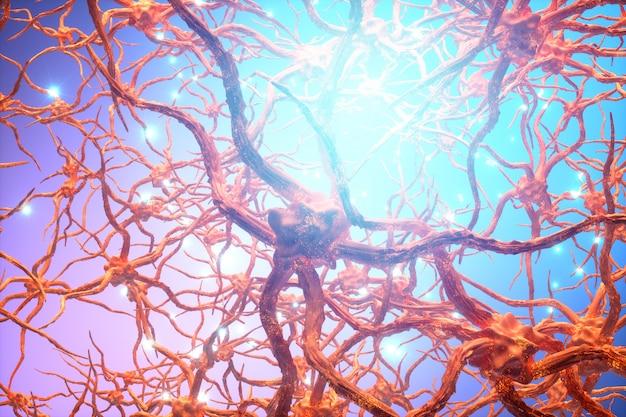 Синапс и нейроны в мозге человека