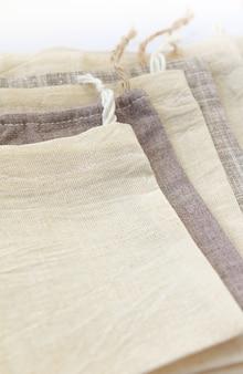 リネンで作られたエコ天然コットン小袋バッグ