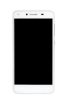 スマートフォン、白背景