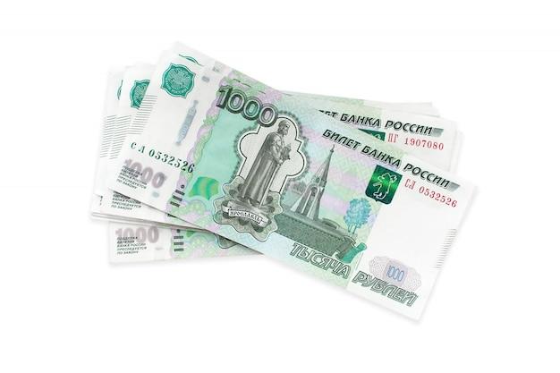 Русские деньги рубли, одна тысяча