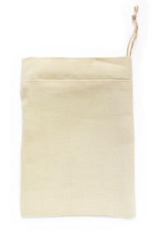 リネン、モックアップで作られたエコナチュラルコットン小型サックバッグ