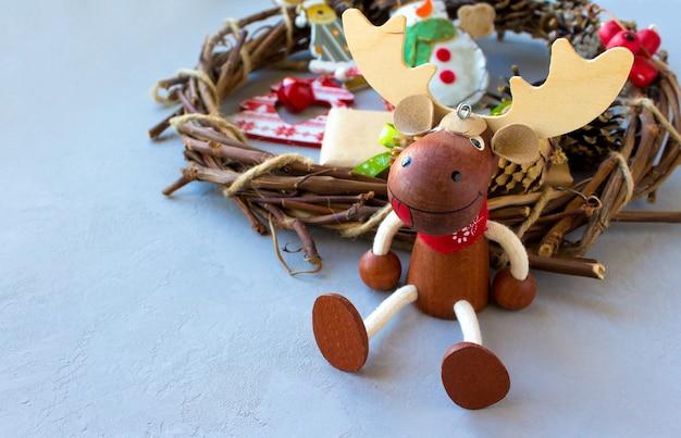 クリスマスエルクとの幸せな魔法の休日