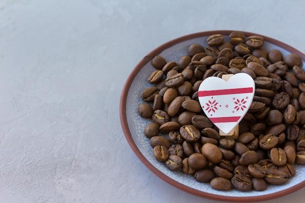Кофе сердце день святого валентина