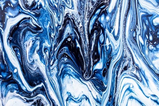 Синяя мраморная текстура с космическим фоном
