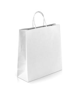 白いクラフト紙の買い物袋
