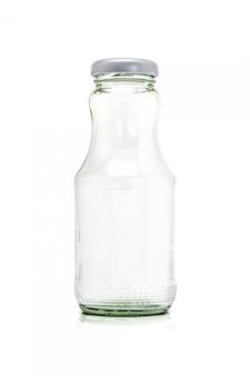 白い背景で隔離の飲料製品用ガラス包装ボトル