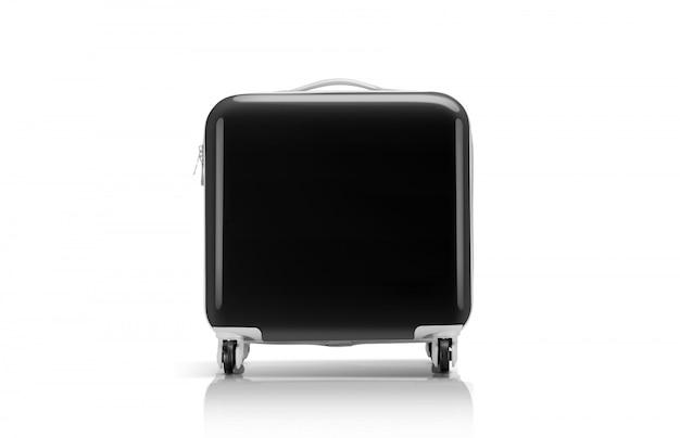 旅行者のための黒いスーツケースや荷物