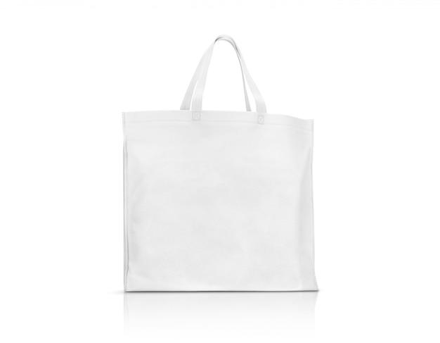 Пустая белая тканевая холщовая сумка для покупок и сохранения глобального потепления