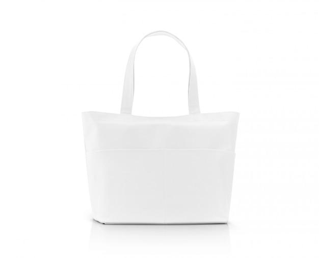 Пустая белая сумка для покупок из ткани для сохранения глобального потепления