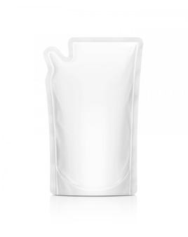 Белый мешок пополнения на белом фоне