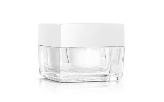 製品設計のための化粧品包装化粧クリームポット。
