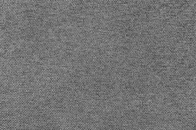 Текстура ткани холстины предпосылки серая