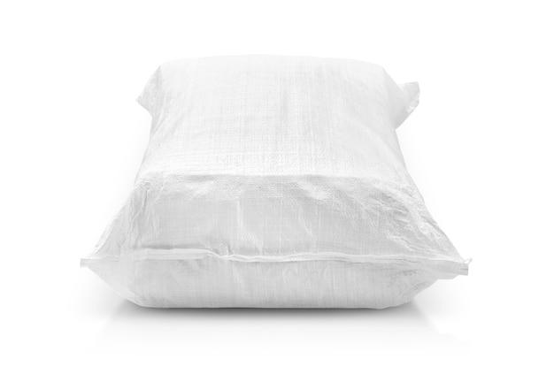 米または農産物用の砂袋または白いプラスチックのキャンバス袋
