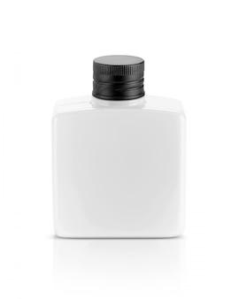 化粧品またはトイレタリー製品用の白いプラスチックボトル
