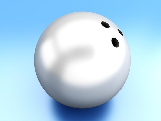 3dレンダリングされたボウリングボール。