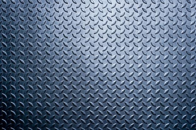 金属ダイヤモンドプレートパターン、金属のテクスチャ背景の背景